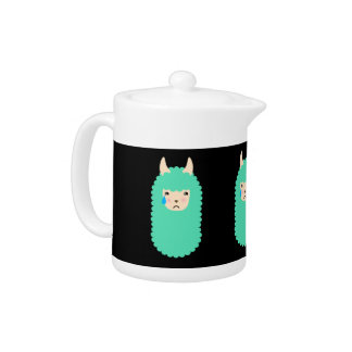 Sad Emoji Llama Teapot