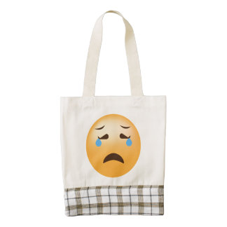 Sad Emoji Zazzle HEART Tote Bag