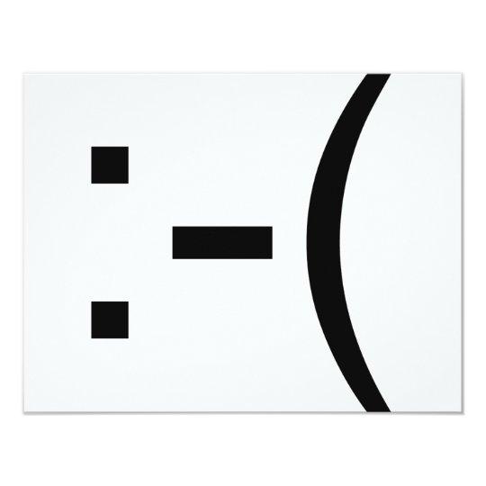 Sad Emoticon! geek products! Card