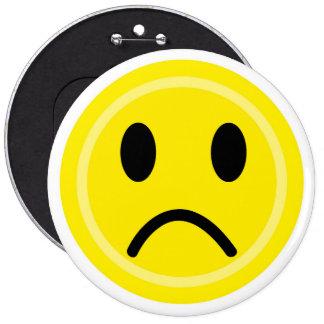 Sad emoticon pinback button