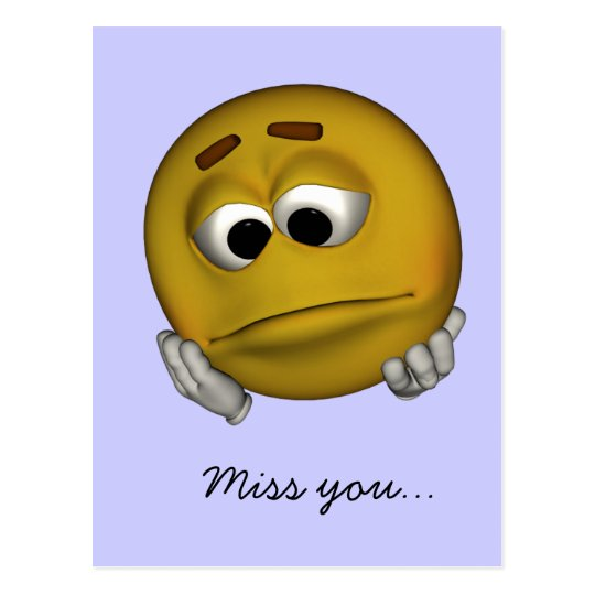 Sad Emoticon Postcard