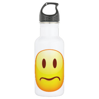 Sad Emoticon Stainless Steel Water Bottle