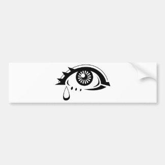 Sad Eyeball Bumper Sticker
