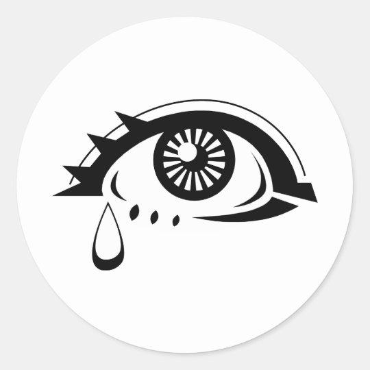 Sad Eyeball Classic Round Sticker