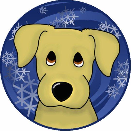 Sad Eyes Yellow Lab Holiday Ornament