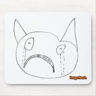 Sad Face Mouse Pad