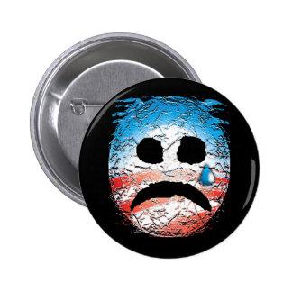 Sad Face Obama Logo Pinback Button