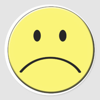 Sad Face Sticker