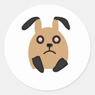 Sad Face Sticker Bunny Crying