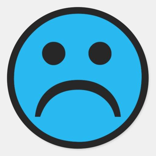 Sad face classic round sticker | Zazzle Sad Face