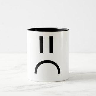 Sad Face Two-Tone Coffee Mug