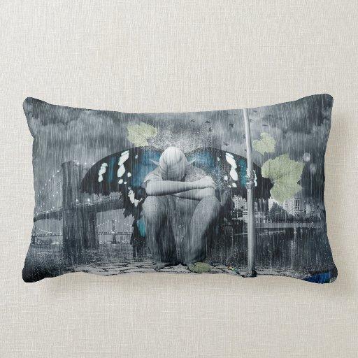 Sad Fairy Throw Pillows