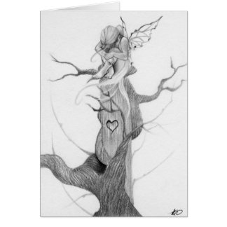 Sad fairy tree Card