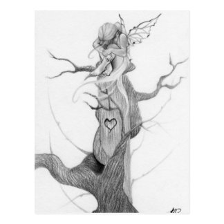 Sad fairy tree Postcard