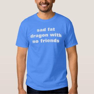 sad fat dragon with no friends shirt