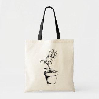 sad flower canvas bags