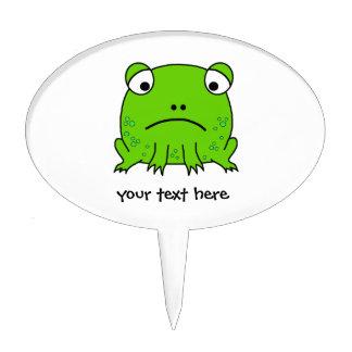 Sad Frog Cake Topper