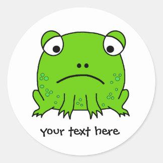 Sad Frog Classic Round Sticker