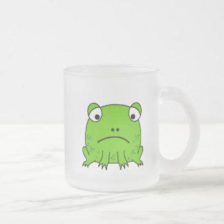 Sad Frog Frosted Glass Coffee Mug