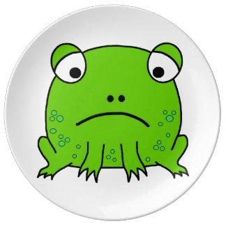 Sad Frog Porcelain Plate