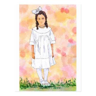 Sad girl postcard