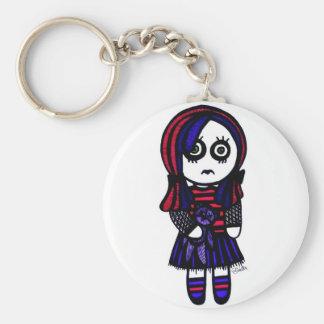Sad Goth girl keychain