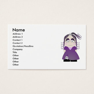 Sad Gothic Girl In Purple Business Card