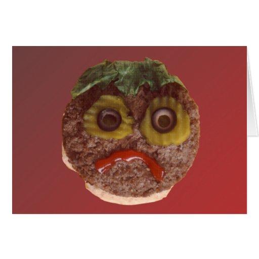 Sad Hamburger Greeting Card