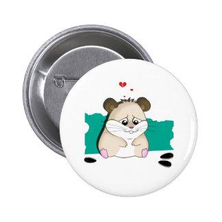 sad hamster 2 inch round button