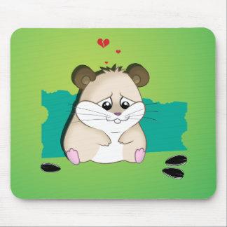 sad hamster mouse pad