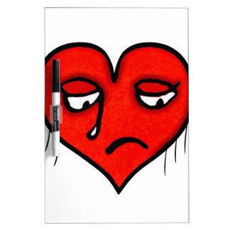 Sad Heart Drawing Dry Erase Board