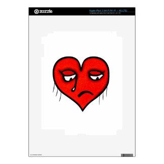 Sad Heart Drawing iPad 3 Decal