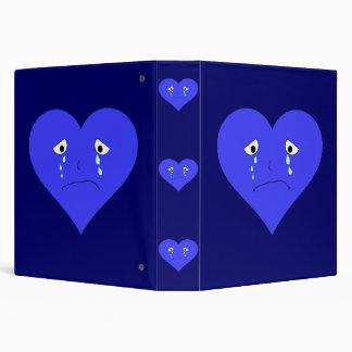 Sad Heart Face 3 Ring Binders
