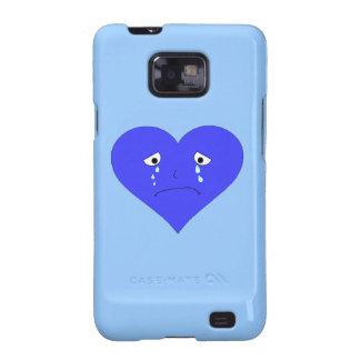 Sad Heart Face Galaxy S2 Cover