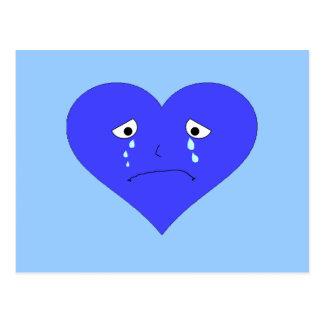 Sad Heart Face Postcard