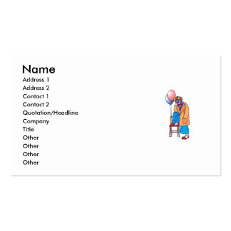Sad Hobo Clown Business Card