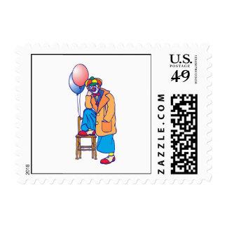 Sad Hobo Clown Postage