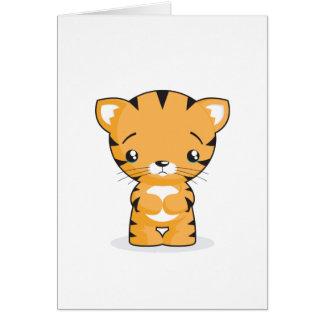 Sad Kitten Greeting Card
