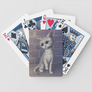 Sad Kitty Bicycle Playing Cards