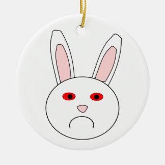 Sad Lab Rabbit Pendant Ceramic Ornament
