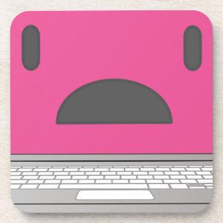 Sad laptop coaster