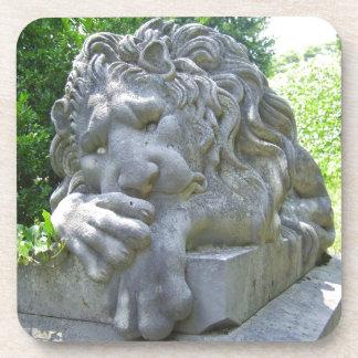 Sad Lion cork coaster