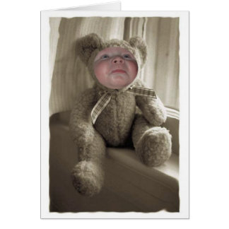 Sad Little Bear Card