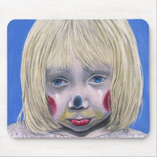 Sad Little Girl Clown Mousepad