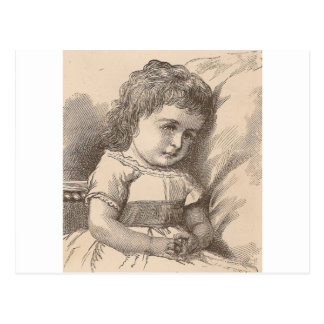 Sad Little Girl Postcard