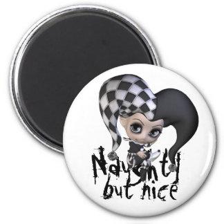 Sad Little Jester 2 Inch Round Magnet