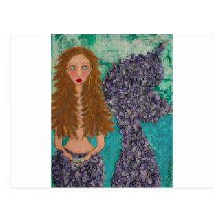 sad little mermaid.jpg postcard