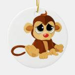 Sad Little Monkey Christmas Tree Ornament