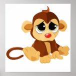 Sad Little Monkey Posters