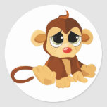 Sad Little Monkey Stickers